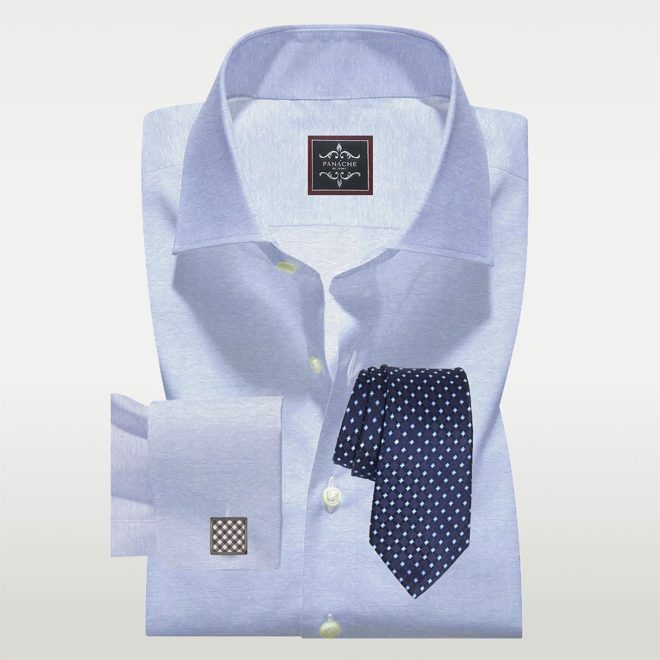 Custom Made Shirts Blue Floral