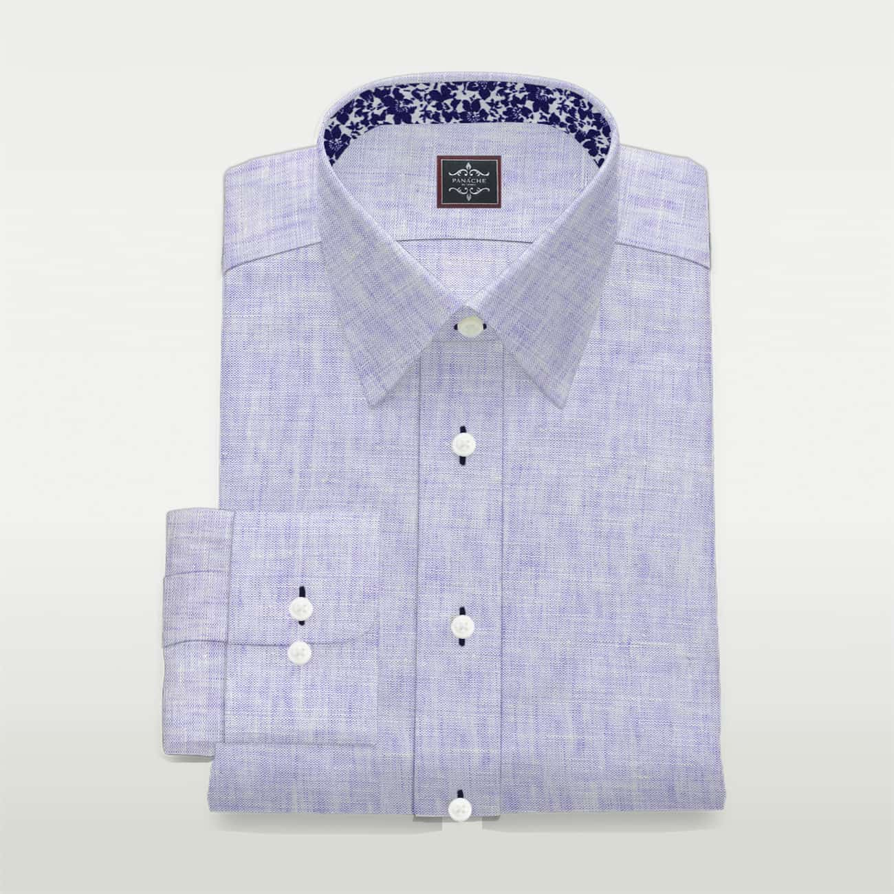 Luxury Purple Linen Shirt