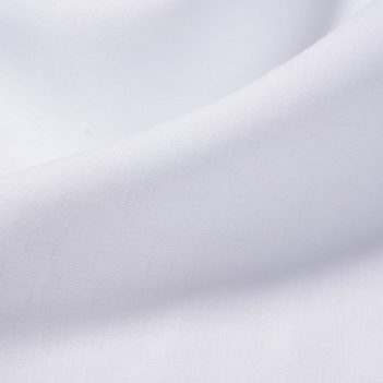White Linen Button-Down Shirt