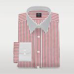 Custom Made Red Striped Shirt