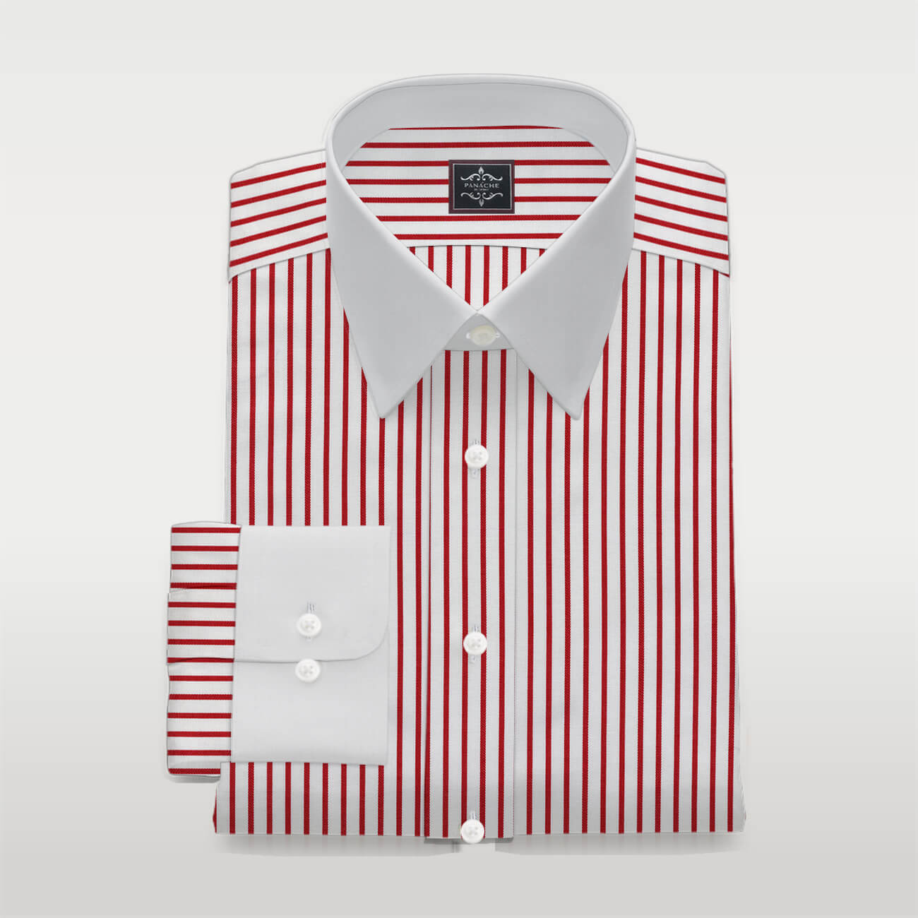 Custom Made Red Striped Shirt