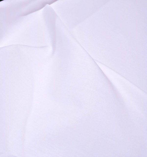 White Poplin Custom Made Shirt.