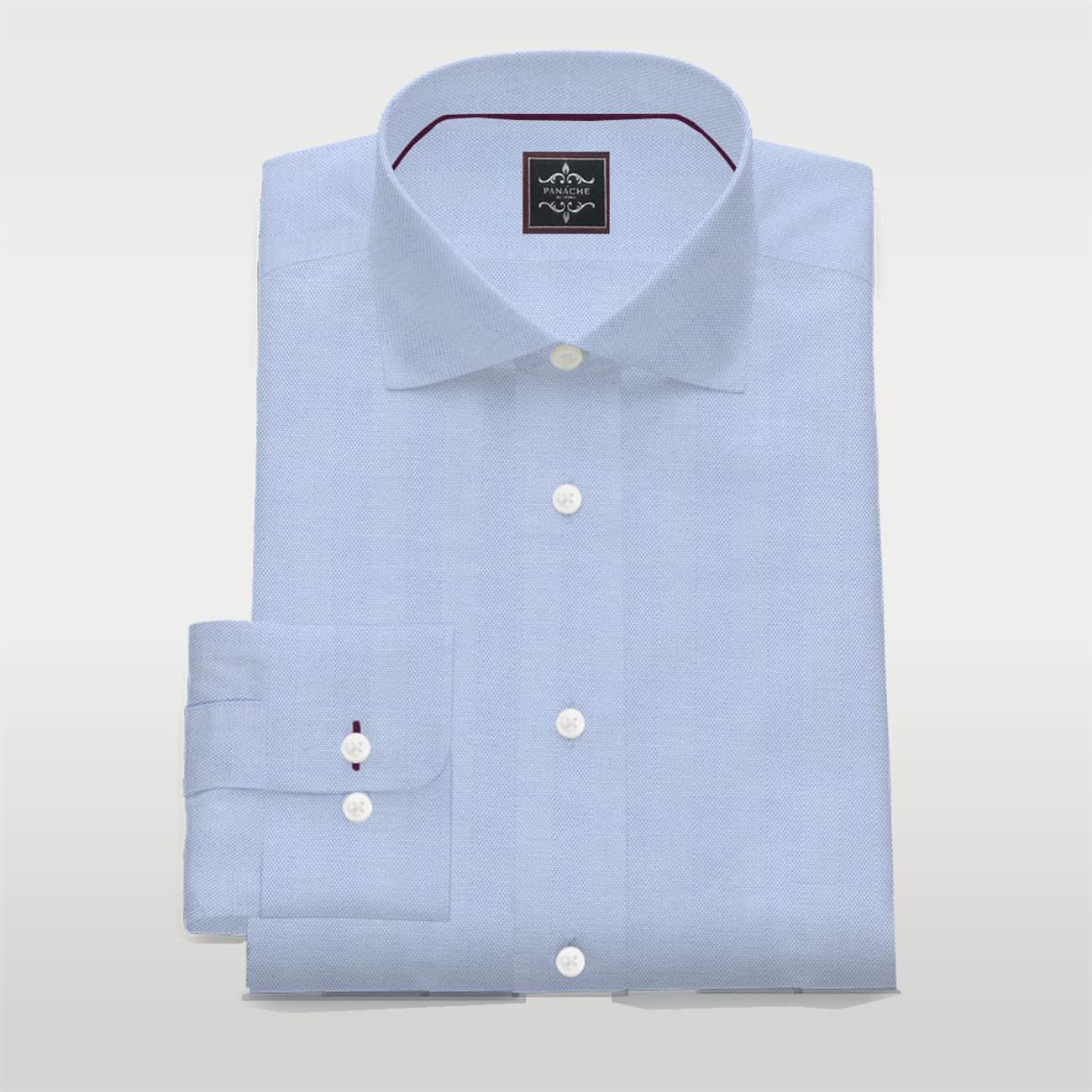 Light Blue poplin custom made shirt
