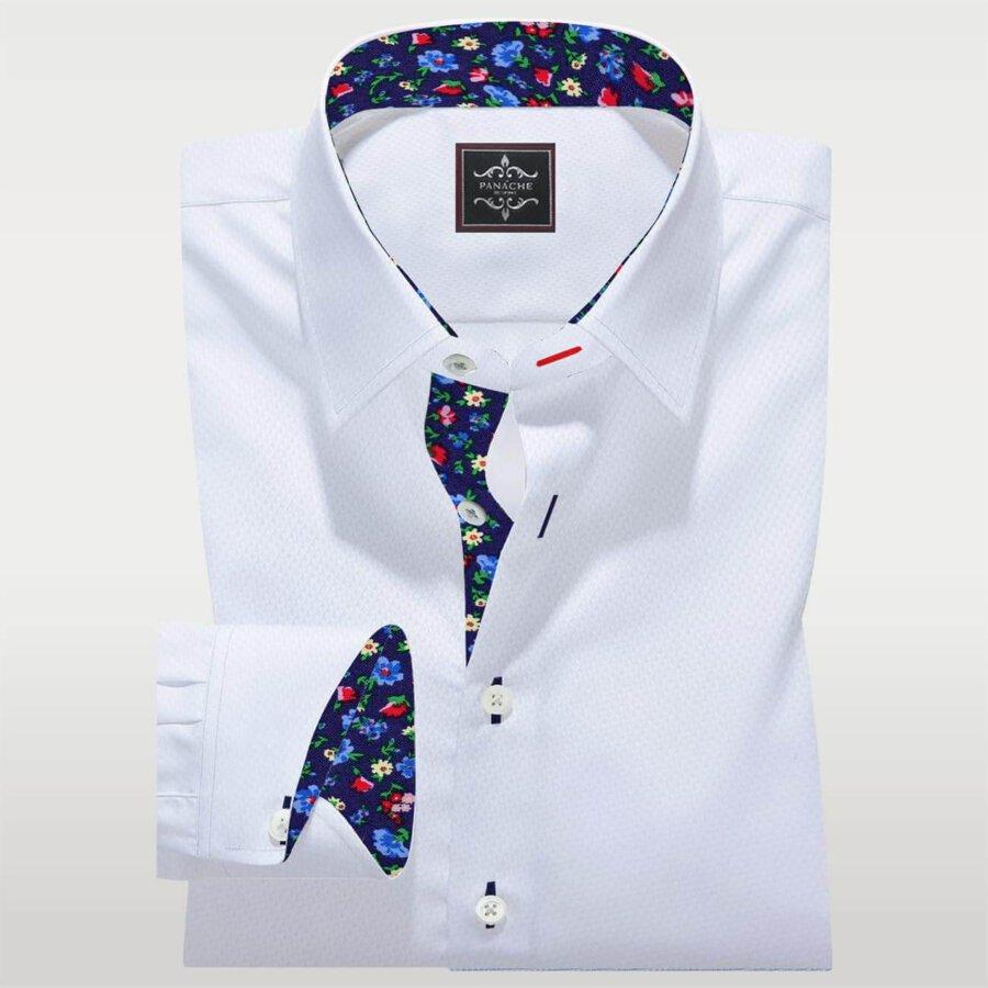 Mens Dress Shirts White Royal oxford Luxury shirt