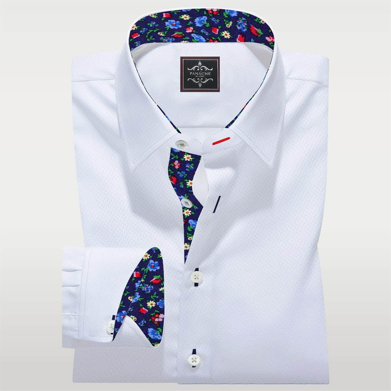 Mens Dress Shirts White Royal oxford Luxury shirt