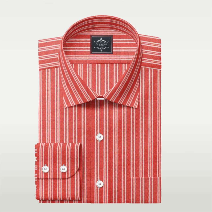 Orange and white stripes shirt