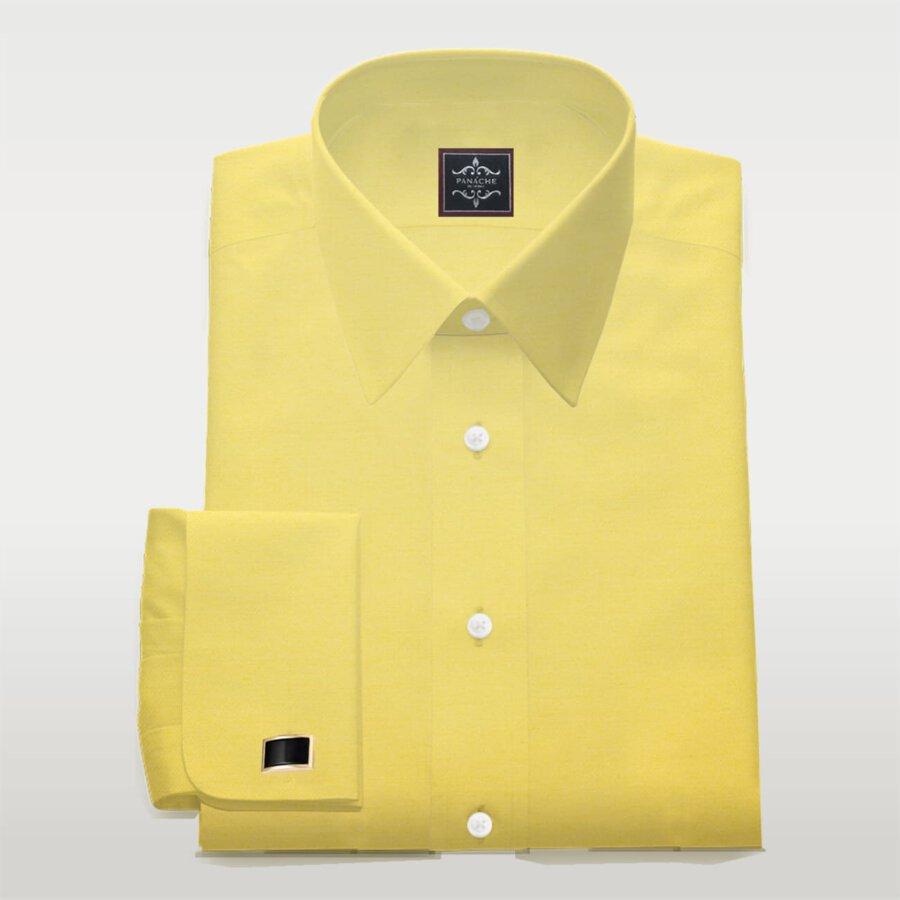 poplin yellow luxury dress shirt