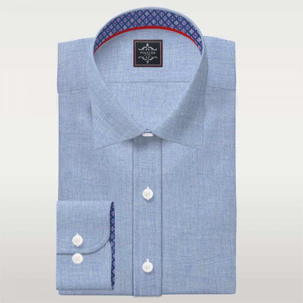 Wool Blend Flannel light Blue Shirt