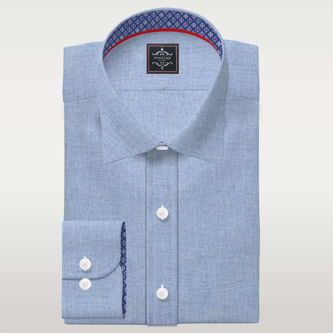 Wool Blend Flannel light Blue Shirt | Flannel shirts