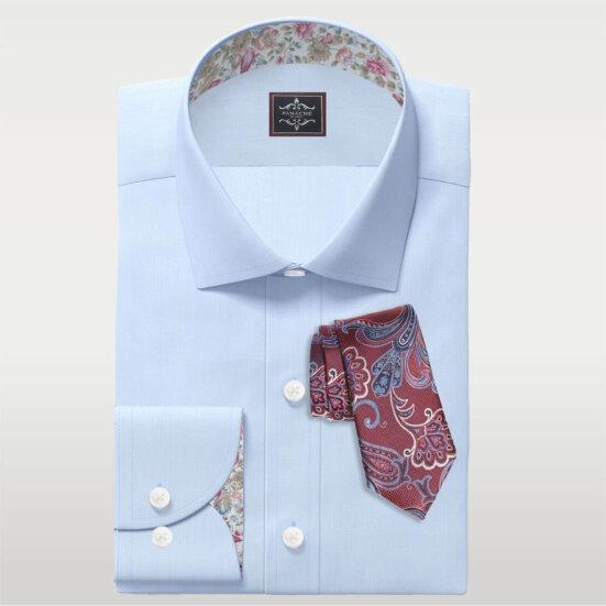mens custom shirts Sky Blue End of End Shirt Mens dress shirts