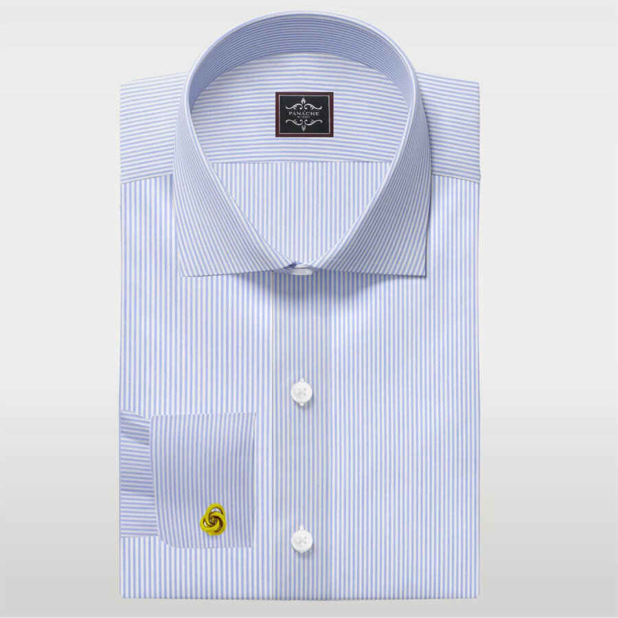 Light Blue pencil Stripes shirt