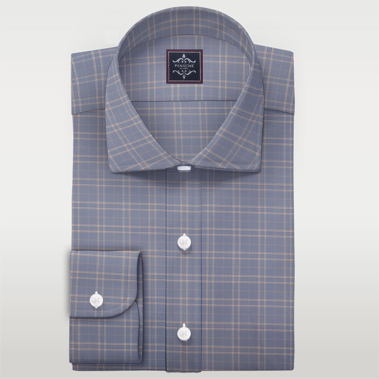 Merino Wool Livid check Shirt | wool dress shirts