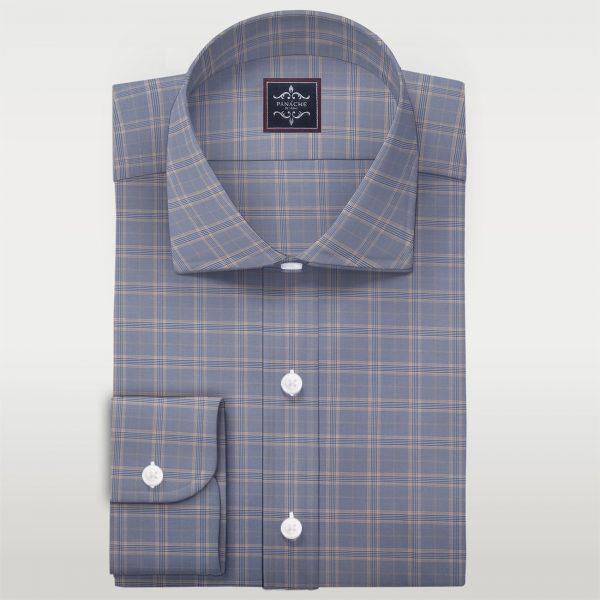 Merino Wool Livid check Shirt