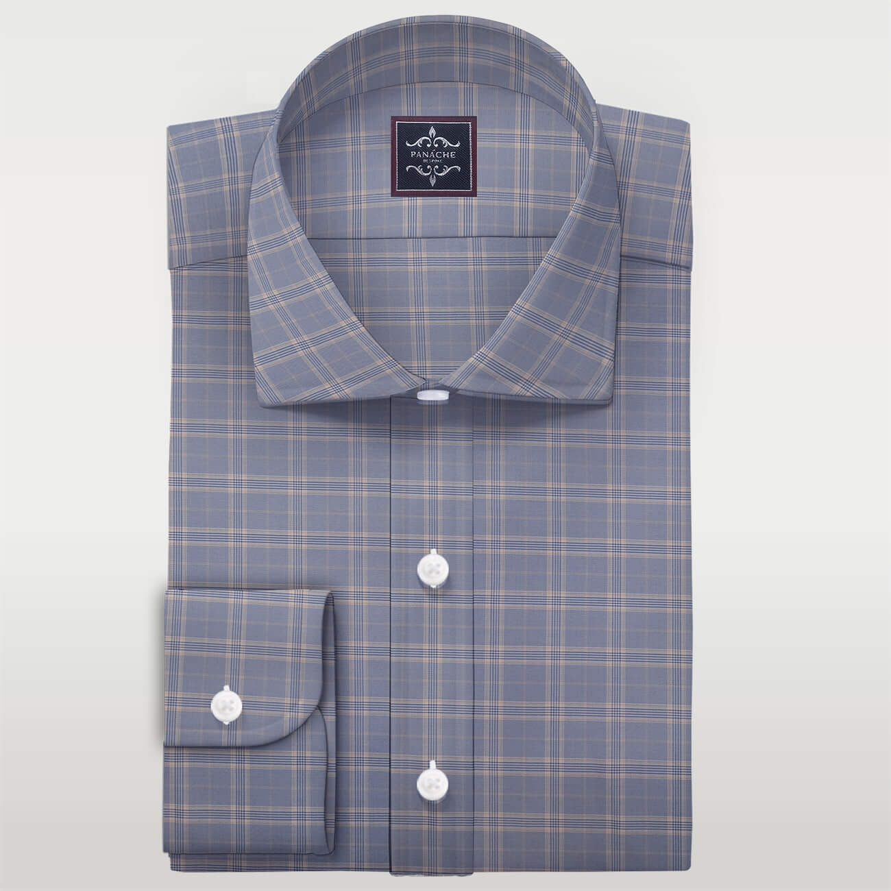 Merino Wool Livid check Shirt | wool dress shirts