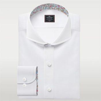 Royal Oxford Shirt Extreme Cut Away Collar Bespoke Dress shirts