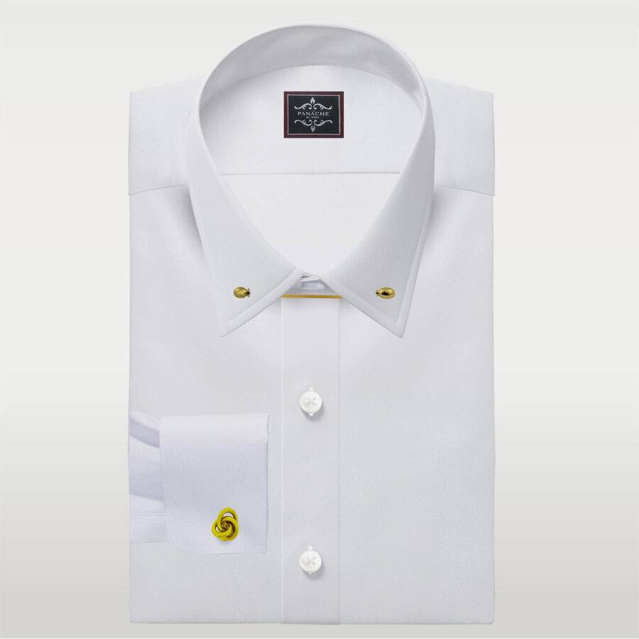 Mens Dress shirts Pin Collar Dress shirt