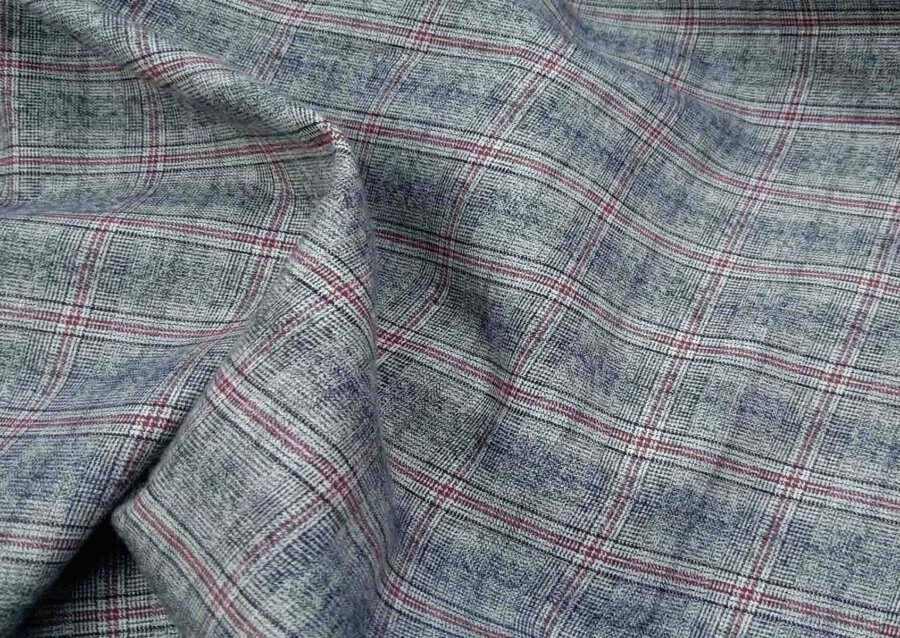 Small Plaid Grey And Red Beacon Flannel shirt