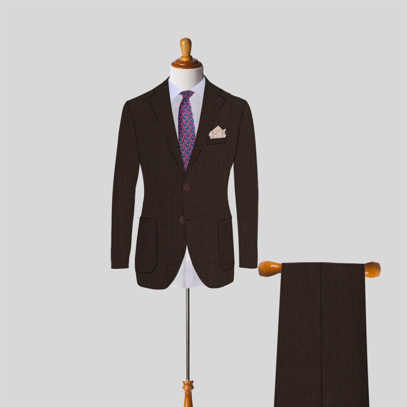 Light Brown Mens Suit