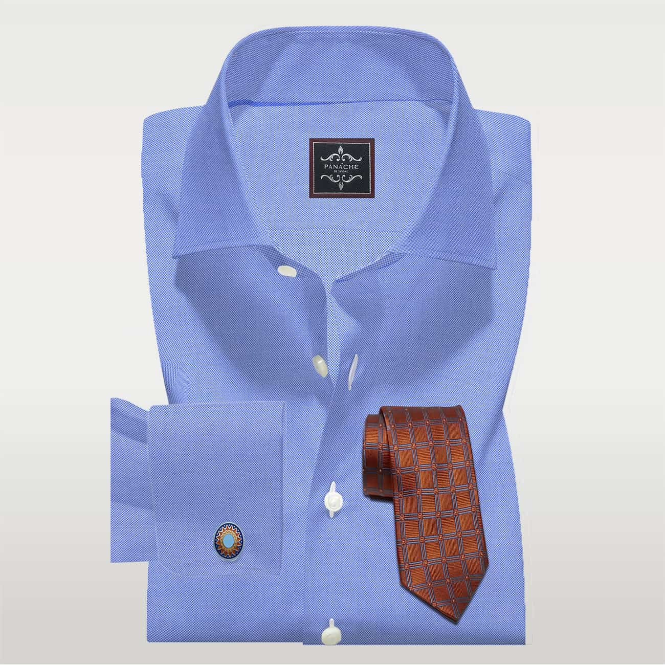 royal oxford blue shirt