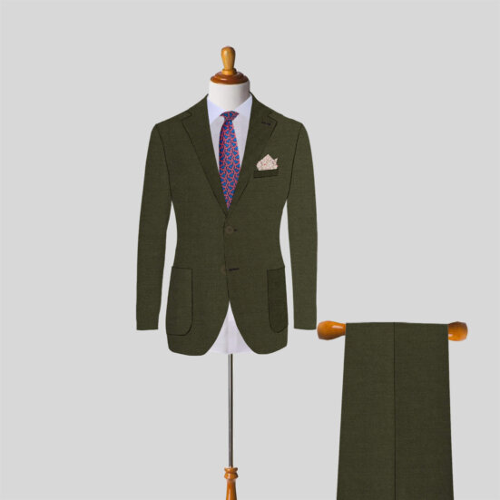 Olive Green Custom Suit