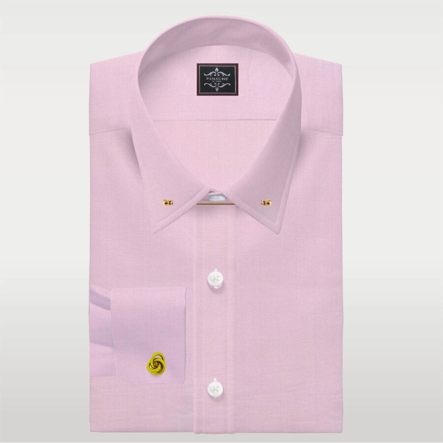 Pink Pin Collar shirt