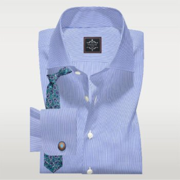 Pen Stripe Blue Shirt
