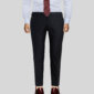 Luxury Dark Black Men's Vitale Dress Pant