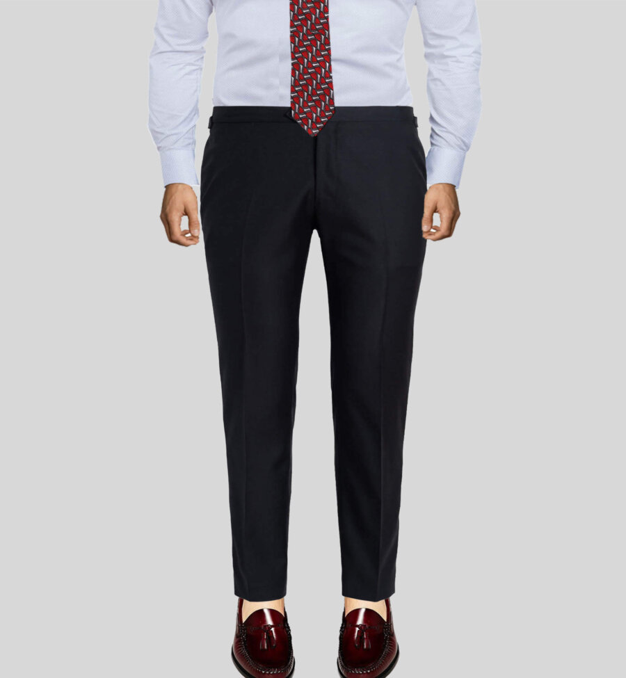 Luxury Dark Black Men's Vitale Dress Pant