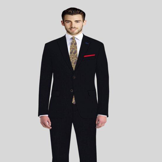 Black Luxury Mens Suit Vitale Barberis
