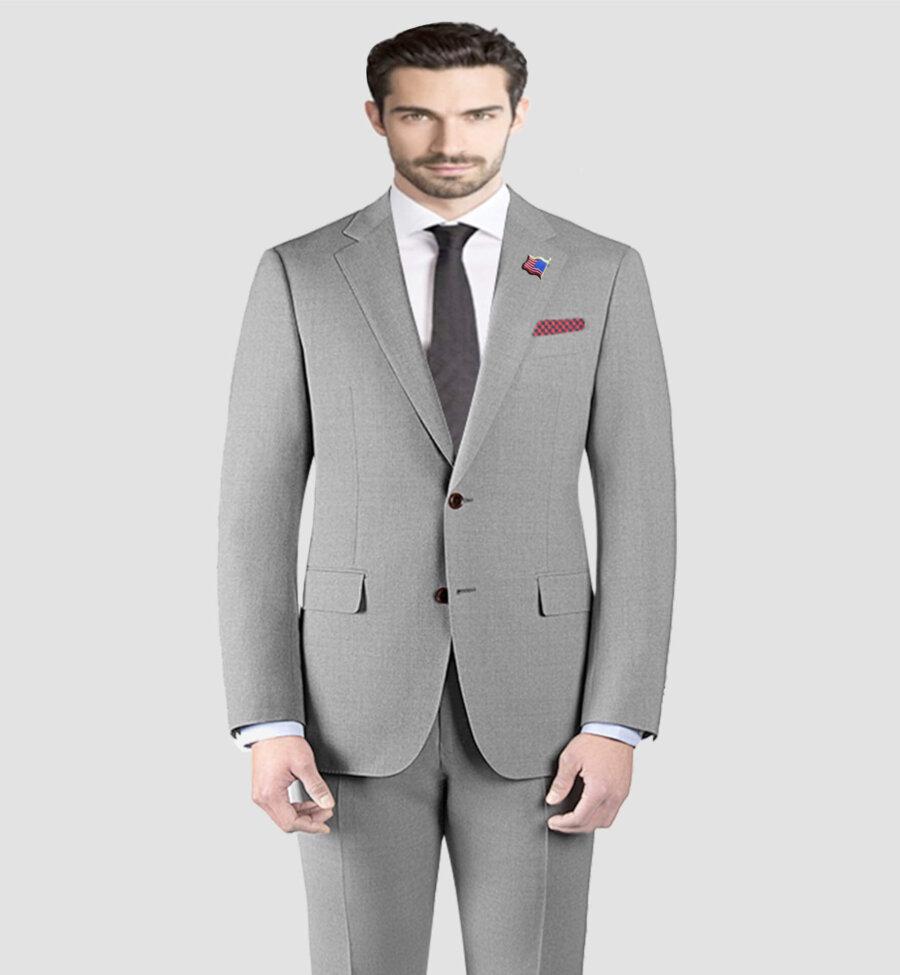 Micron Giorgio Vito Light Grey Suit
