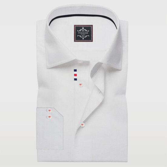 Wrinkle-Resistant White Mens Shirts