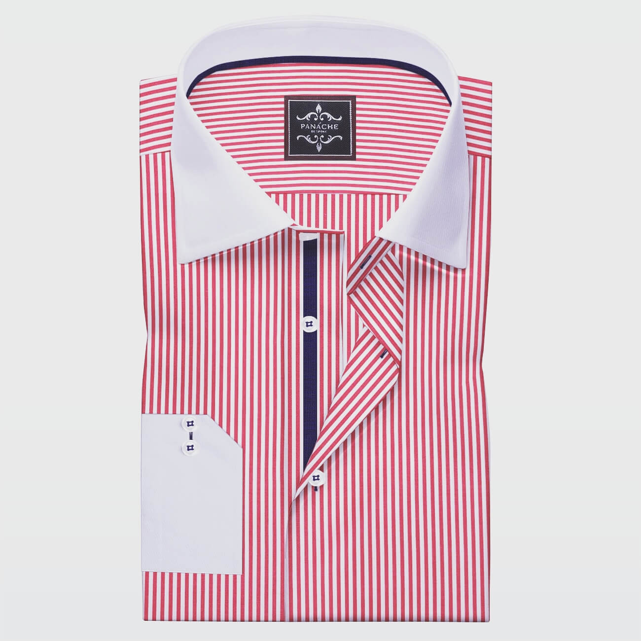 Luxury Radish Pink Men's Made to Measure Shirt