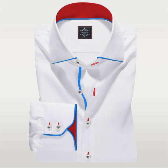 white fashion shirt