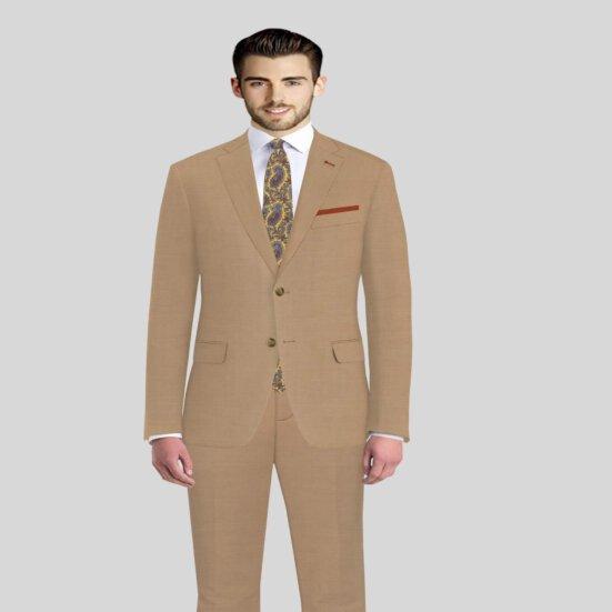 Tan Color Mens Suits Vitale Barberis Wedding suit