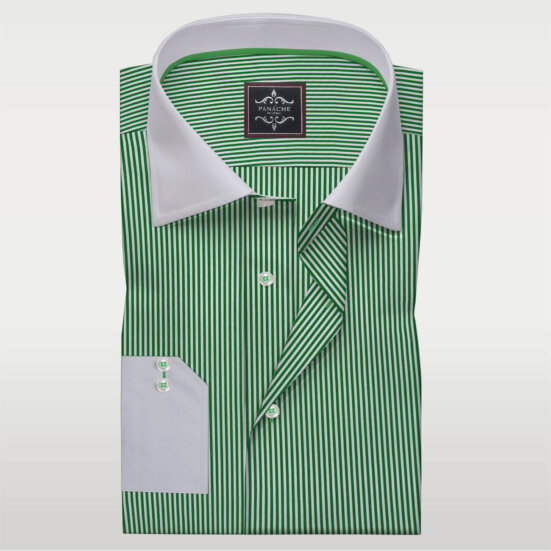 Green Stripes Dress shirts