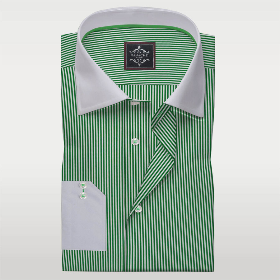 Green Stripes Dress shirts