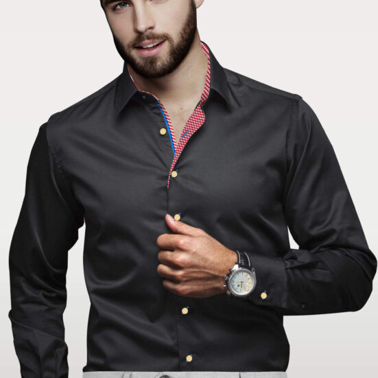 Black Mens Dress Shirts