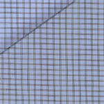 Blue and grey check
