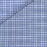 Blue self texture plaid