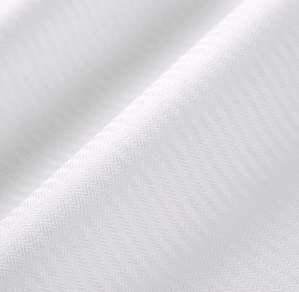 White Micro Royal Herringbone