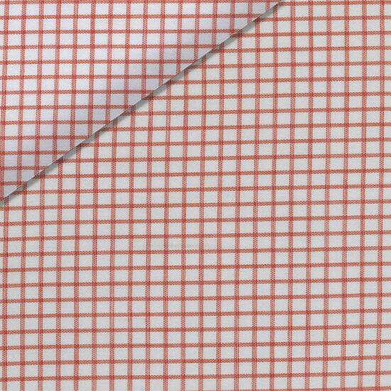 White and Orange Check