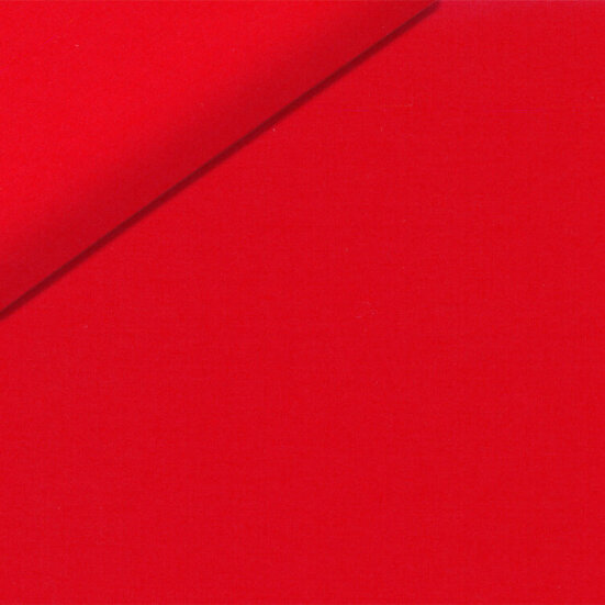 Red poplin custom shirt