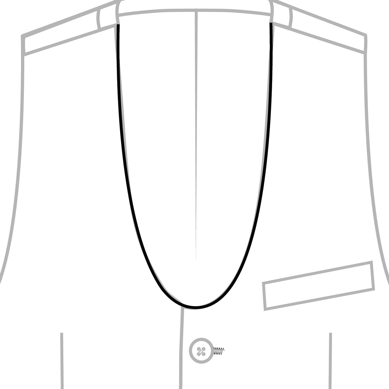 Lapel Rounded