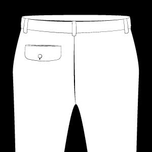 Back Pocket on Left With Flap