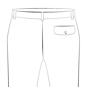 Back Pocket on Right With Flap
